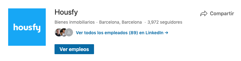 captura de pantalla del LinkedIn de Housfy